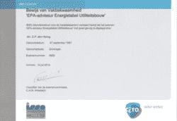 Energielabel Groningen is gecertificeerd EPA-U adviseur en voorziet nu ook bedrijven van een energielabel