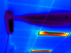 Warmtebeeld van een inspectie van een airco